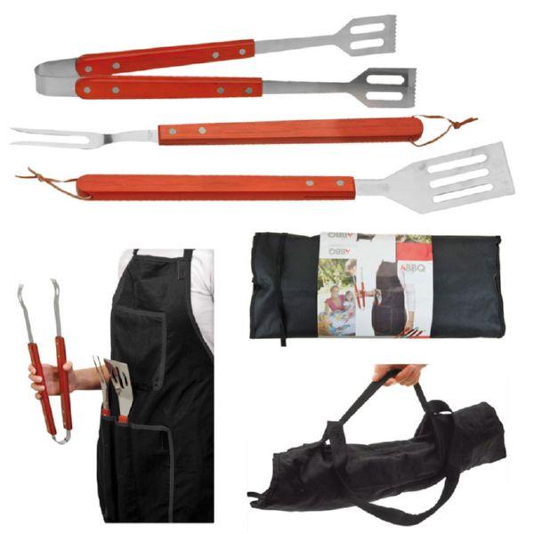 Accesorios barbacoa madera (espumadera, tenedor, pinzas) Bol
