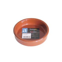 Cazuela barro redonda, 4 asas, 40 cm. Fondo curvo (Min. 4 un